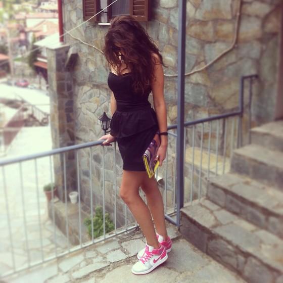 jordans with a dress