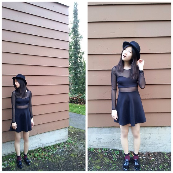 Stevie K - H&M Hat, Forever 21 Dress, Forever 21 Lace Socks, American Apparel Dancing Shoes - Lost in Translation