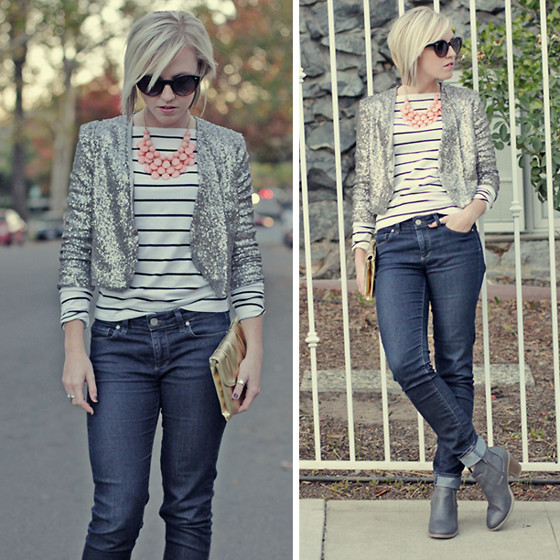 Hales Titus - Forever 21 Cropped Jacket, Necklace - Glitz & Glam