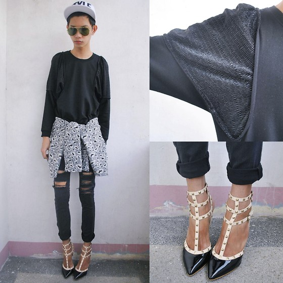 Jeroy Balmores - Forever 21 Jeans, Ray Ban Sunnies, Glammouroza Heels - Style