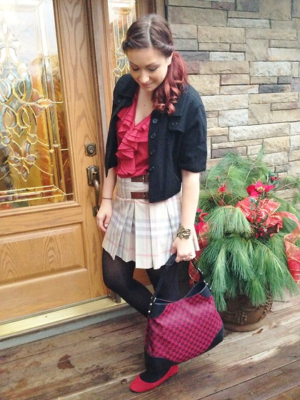 Monika S - Ralph Lauren Top, Burberry Skirt, Gucci Bag - Remember this?