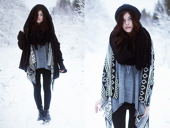 Sabina Olson - Sheinside Cardigan, H&M Sweater, Sheinside Coat, Winter Came Today - Over my dead body #123