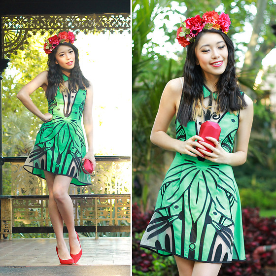 Connie Cao - Alice Mccall Dress, K Is For Kani Headband - Jade