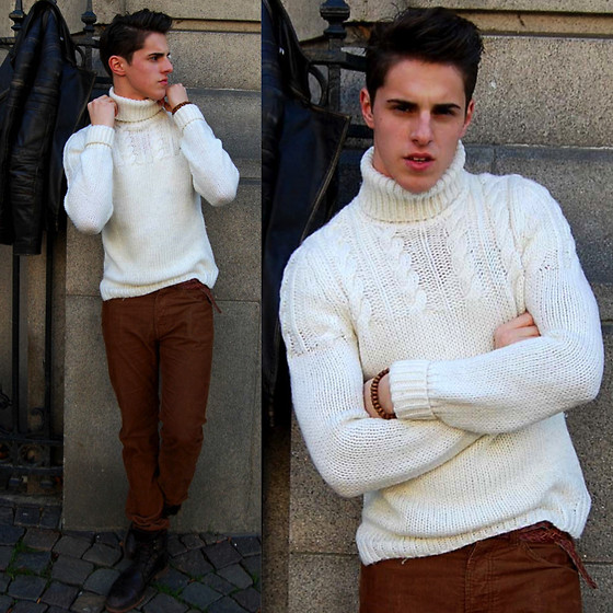 Matthias Geerts - Zara Cable Jumper, H&M Velvet Pants, Men@Work Dark Boots - Another outfit