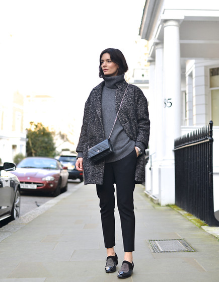 Hedvig ... - Acne Studios Wool Trousers, Joseph Cashmere Knit, Isabel Marant Coat, Jimmy Choo Shoes, Chanel Bag - Mannish