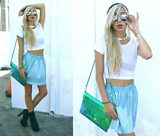 Alexa Villa - H&M Clutch, Forever 21 Necklace, H&M Beanie, Forever 21 Skirt - Sophisticated Lady