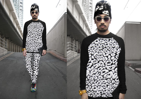 Andre Judd - Cloud Knit Sweater, Cloud Knit Trousers, Artwork People Print Beanie - COTTON CLOUDS