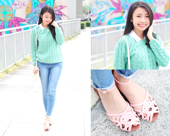 Sophie Ramos - All Dolled Up Sweater, Satchi Store Yuki Sandals - Sweater kind-of-girl