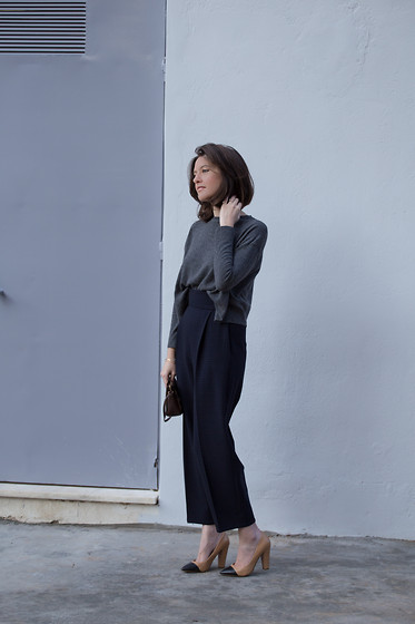 Eleni K. - Zara Cropped Knit, Zara Jacquard Pants - Chloé Girls