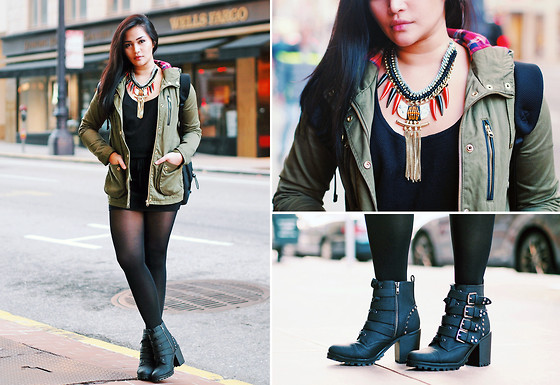 Raleene Cabrera - Topshop Jacket, River Island Necklace, Stella Mccartney Backpack, H&M Boots - 122413
