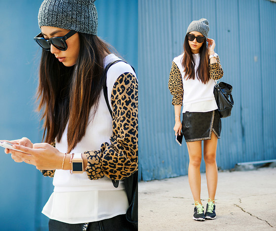 Jenny Ong - Asos Beanie, 3.1 Phillip Lim Sweater - Style noted