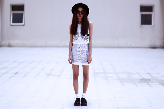 Vu Thien - Rednbold Tank, Lovelysally Skirt, T.U.K Creepers - SEE HEAR SPEAK NO EVIL