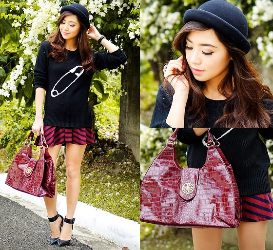 Kryz Uy - Fashion Beauty And Beyond Sweater, Bayo Skirt, Wagw Hat, Avon Bag - Kristine