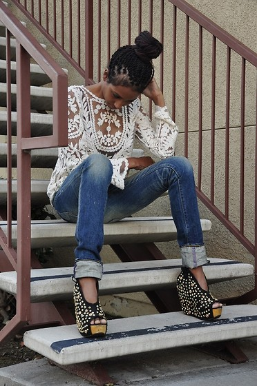 Michelle G. - Prps Jeans, Jeffrey Wedges, Ebay Top - Twist