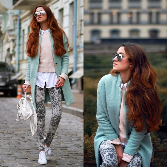 Tina Sizonova - Cheap Monday Keds, River Island Jeans - Tiffany Blue Coat