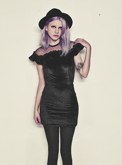 Malin Z - H&M Hat, Vintage Velvet Dress - New Year