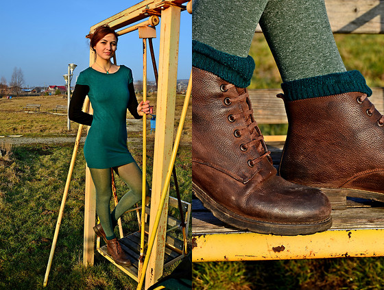 Fana L - Denis Brown Boots, H&M Casual - Overgreen