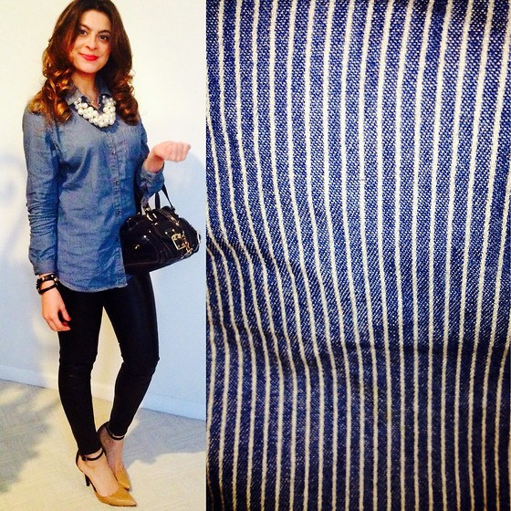 Fashionlingual, Desirée -  - Striped Chambray