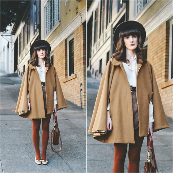 Kiana Mc - American Apparel Cape, Vintage Shoes - SF City Coordination