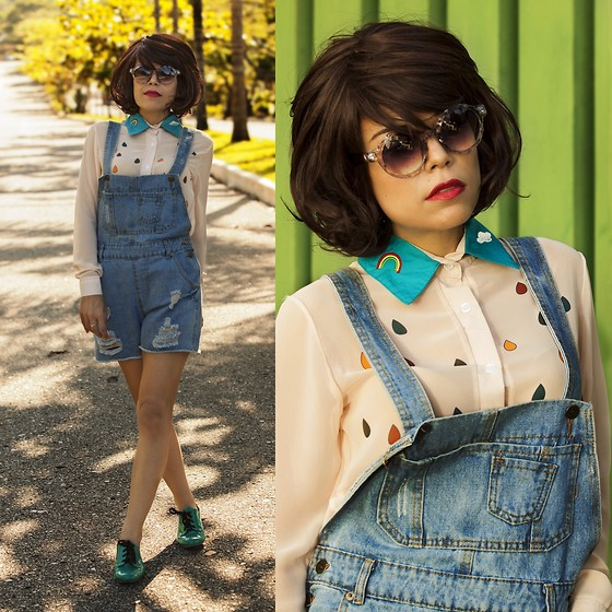 Priscila Diniz - Romwe Denim Jumpsuit, Photography Studiodois - Somewhere over the rainbow