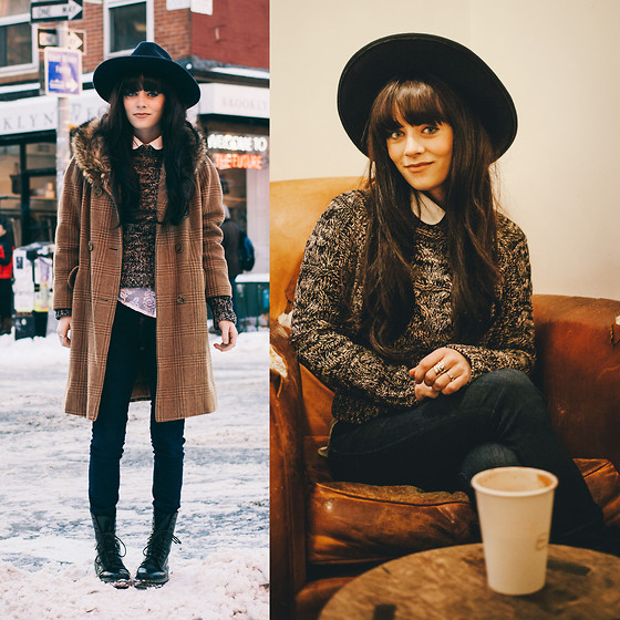Rachel-Marie Iwanyszyn - Thrifted Coat, Sweater, Dr. Martens Boots - SNOW DAY.