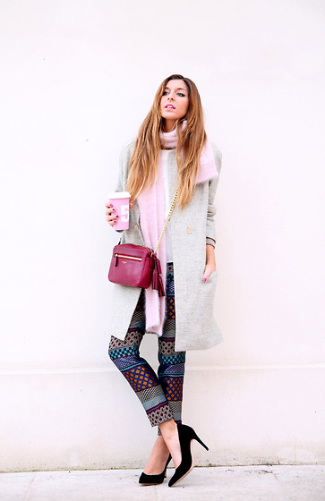 Sabrina Tassini - Pinko Coat, Coach Bag, Monocrom Pants - Pink and the city