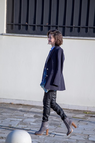Eleni K. - Ralph Lauren Blazer, Vintage Leather Pants - Catpower