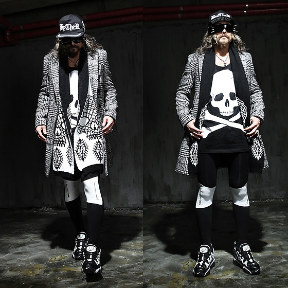 INWON LEE - Byther Cap, Byther Skull Vest, Byther Leggings, Rick Owens Coat, Nice Shoes - People change like the seasons