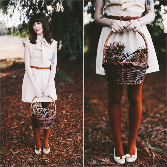 Kiana Mc - Vintage Dress, Salvatore Ferragamo Shoes - Through the Woods