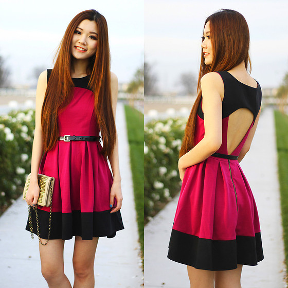 Yuzi Katrina - Pin Up Darling Color Block - Color Block Dress