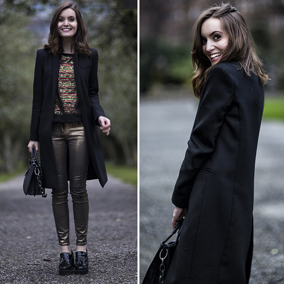 Anouska Proetta Brandon - Zara Coat, Jovonnista London Top, Guess? Jeans, Office Shoes - Air.