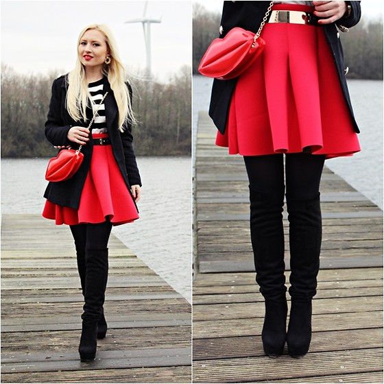 Justyna B. - Bag, Skirt - Red lips