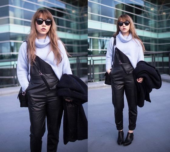 Ivy Xu - Zara Sweaterz, Nasty Gal Overall, Alexander Wang Boots - Roof top blues