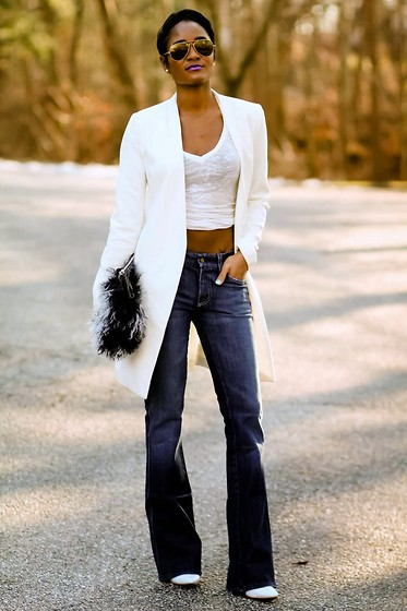 Ashleigh Hutchinson - 7 For All Mankind Jeans - Casual in White