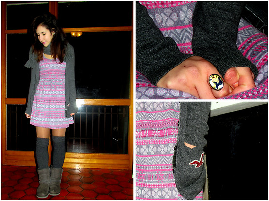 Francesca Schiavoni - Hollister Co. Dress, Hollister Co. Cardigan, H&M Socks, Ugg, Tezenis Scarf - Four.