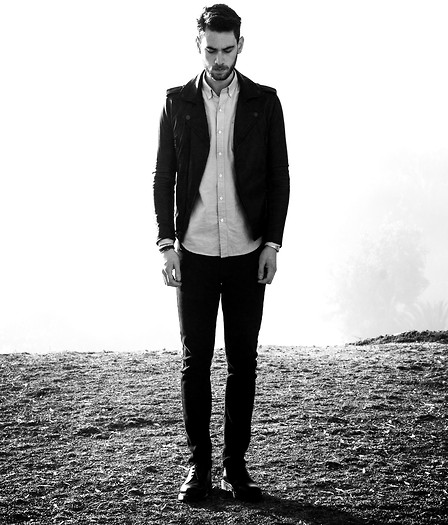Edward Honaker - William Rast Jacket, Hawkings Mcgill Shirt, Pacsun Jeans, Dr. Martens Shoes - Gemini