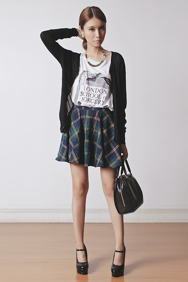 Tricia Gosingtian - Chic Wish Skirt, The Orphan's Arms Top, The Accessory Report Necklace, Emoda Shoes, Louis Vuitton Bag - 012814
