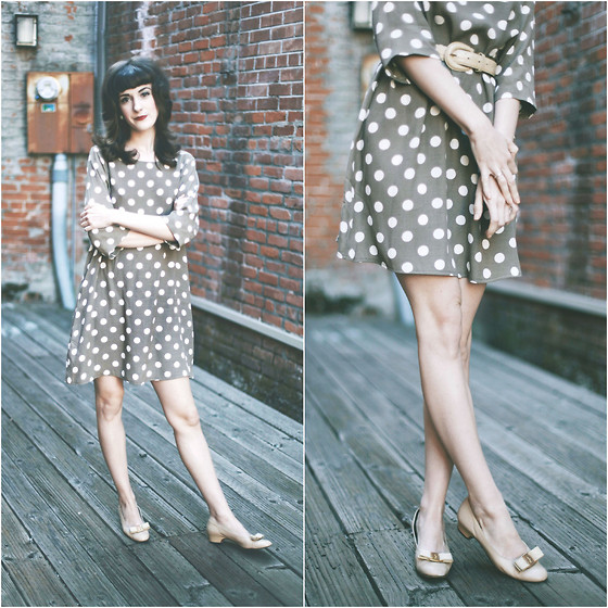 Kiana Mc - American Apparel Dress - 60's Dots