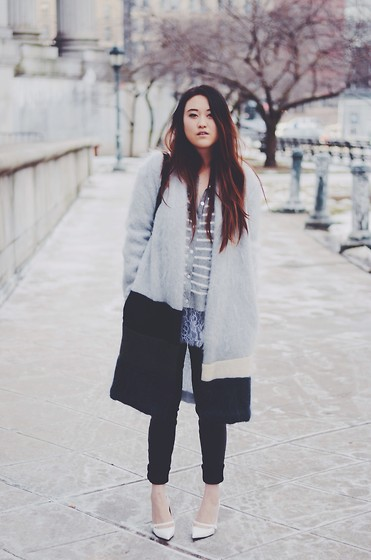 Tessa M - Alexis Barrell Coat, Marc By Jacobs Pumps, Clu Sweater - FAIRY FLOSS