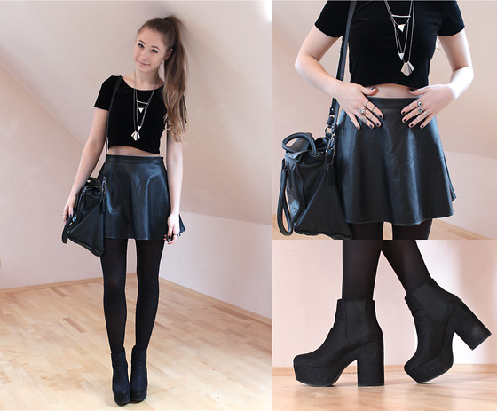 Alina Reinisch - Forever 21 Skirt, H&M Heels - BlACK ON BLACK