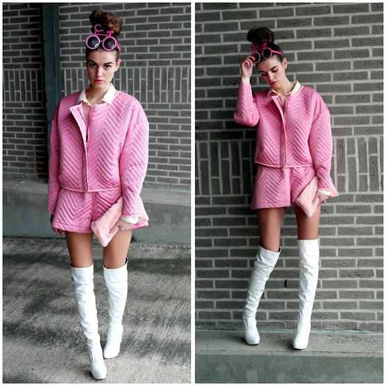 Michelle Verpuggi - Milanoo Boots, Jack, Short, Frontrowshop Clutch, Giantvintage Sunnies - BE A BARBIE GIRL