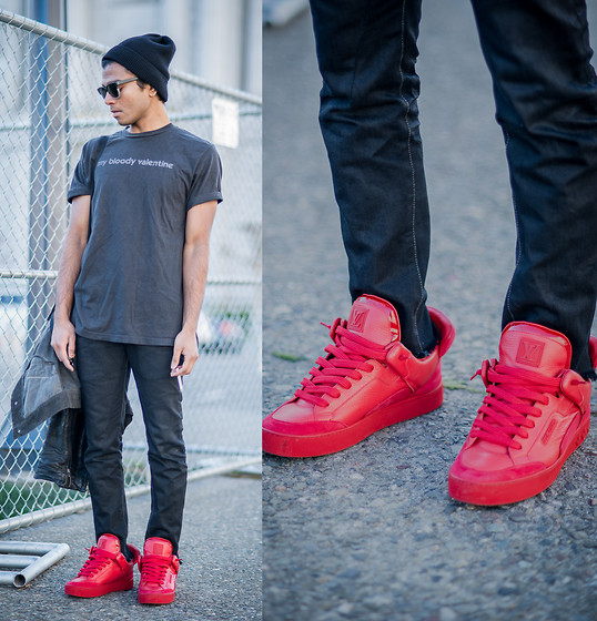 Josh Walter - Shirt, Muji Beanie, Rick Owens Jacket/Jeans, Louis Vuitton Shoes - Loveless.