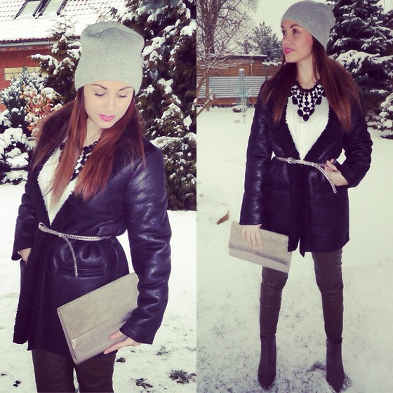 Style by JH - Mango Coat, Zara Necklace - Winter time