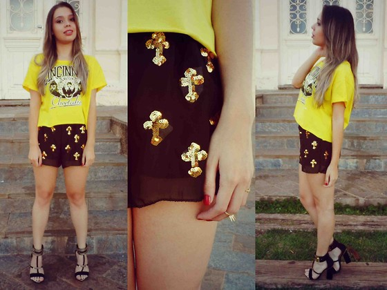 Priscila Figueredo - Azbelle Ring, Ebay Sequined Cross Shorts - But you're still young;