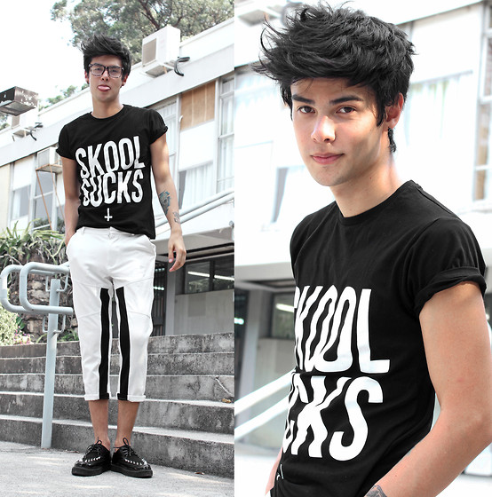 Vini Uehara - Wasted School Sucks, Choies Pants, Zealotries Shoes - School Sucks