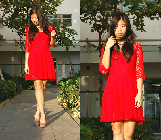 Ebay Red Lace Dress, Asos Nude Ankle