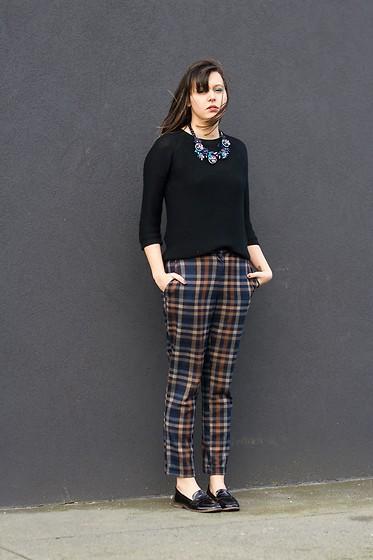 Anais Who Zara Collier Zara Pull Asos Pantalon London Rebel Mocassins Blue Tartan Lookbook