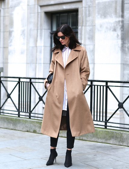 Hedvig ... - Studio Nicholson Trousers, Maje Shirt Dress, Max Mara Coat, Jimmy Choo Shoes, Chanel Bag - Something camel