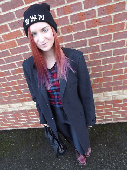 Roxii Hoare-Smith - Ebay Hat, Feraud Coat, American Apparel Disco Pants, Doc Marten Boots - Bad Hair Day
