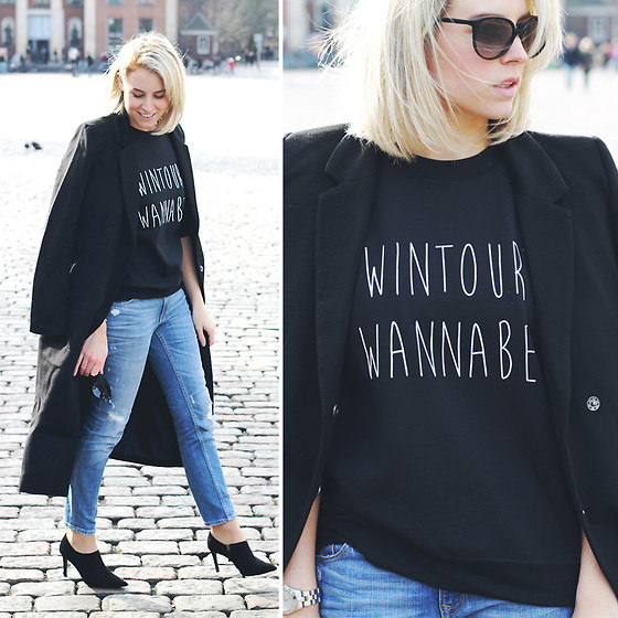 Lian G. - Fashaves Sweater, H&M Jeans, Zara Shoes - Wintour Wannabe